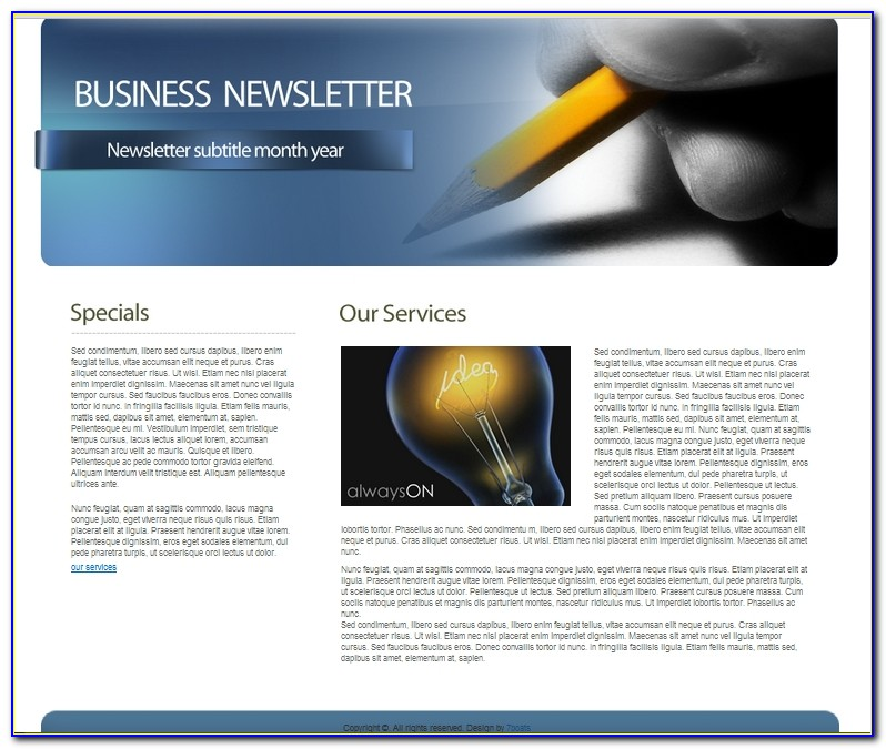 Christmas Newsletters Templates Free
