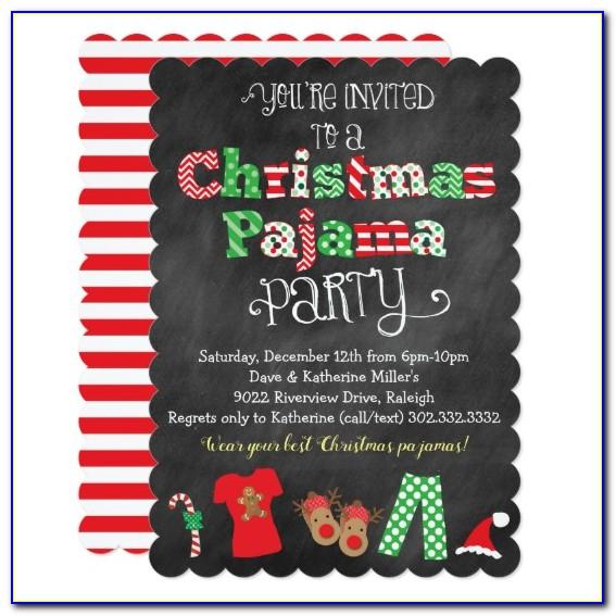 Christmas Pajama Party Invitations Free Printable
