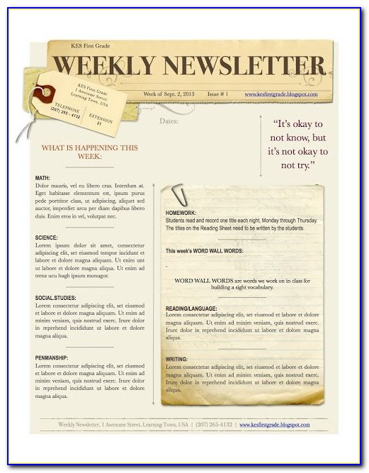 Church Email Newsletter Templates