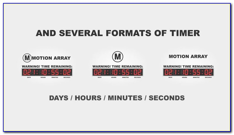 Countdown Timer After Effects Template Free Download
