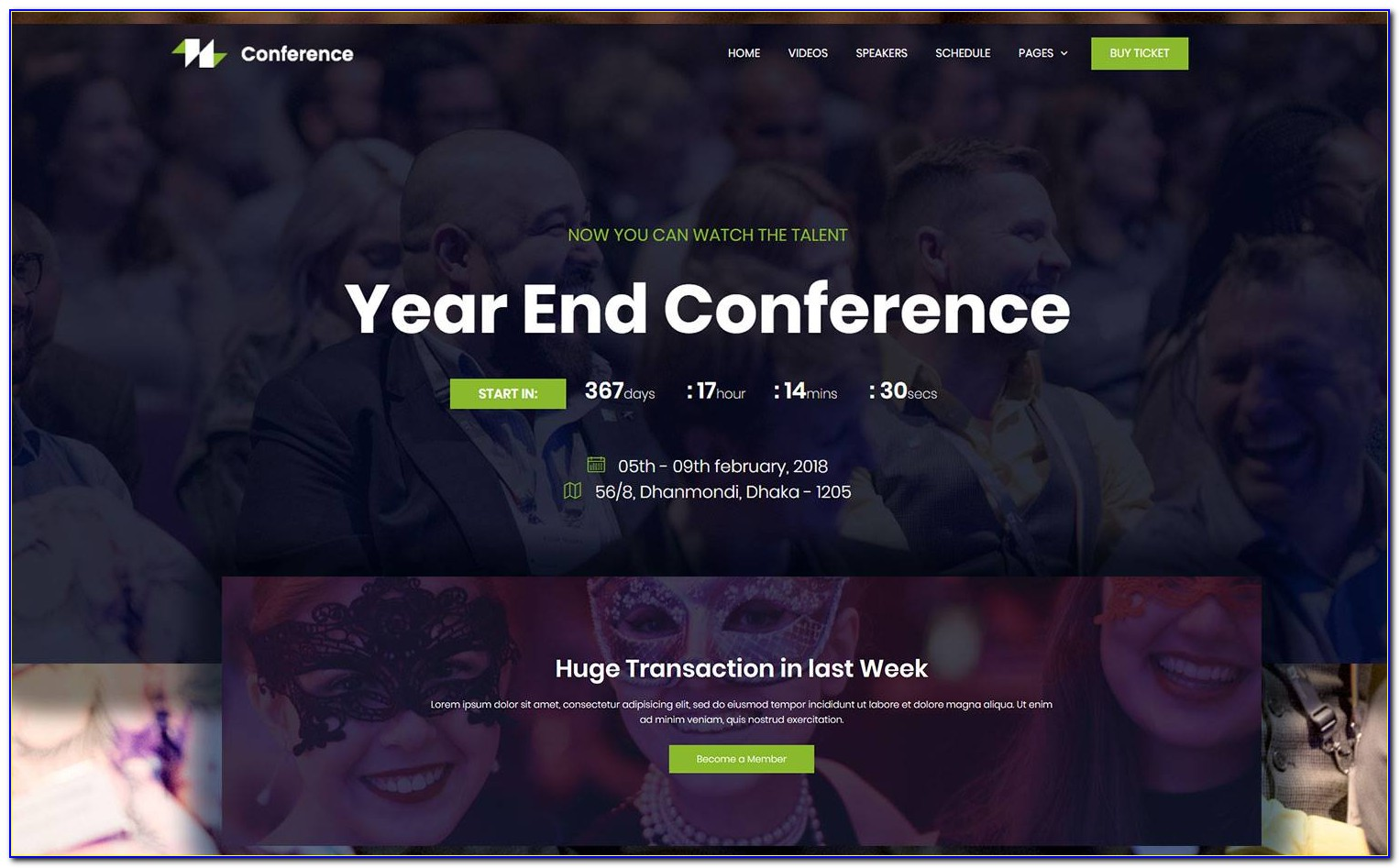 Countdown Timer Website Template Free