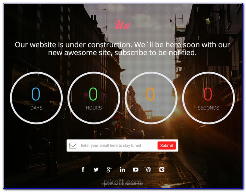 Countdown Website Template Free