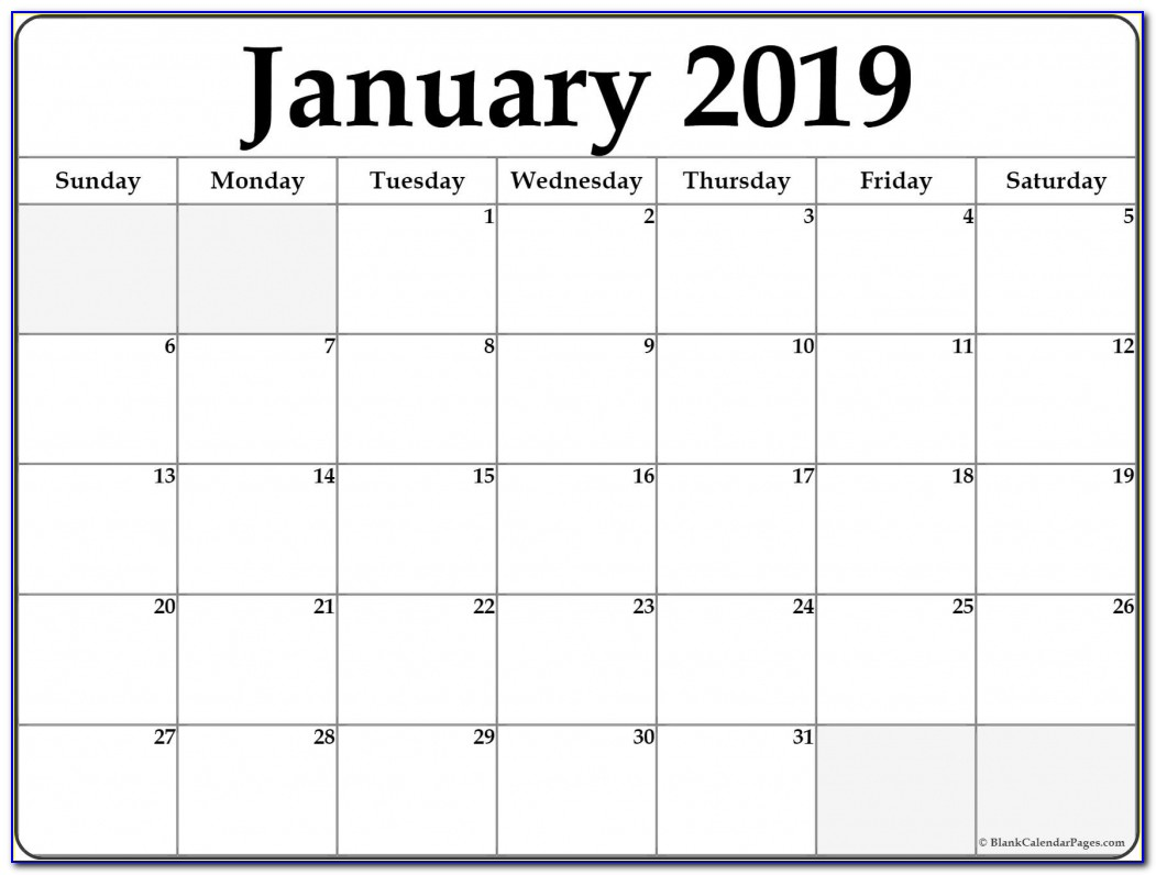 January 2019 Office Desk Calendar January 2019 Free Printable Blank Calendar Collection