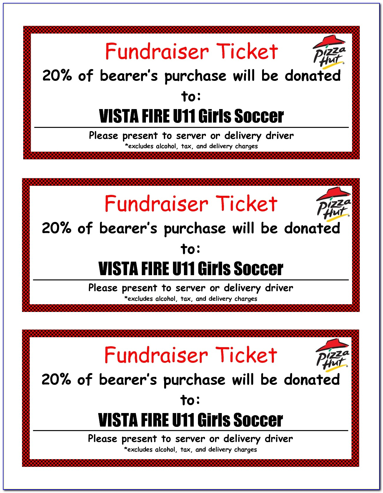 Fundraiser Ticket Template Fundraiser Raffle Ticketfree