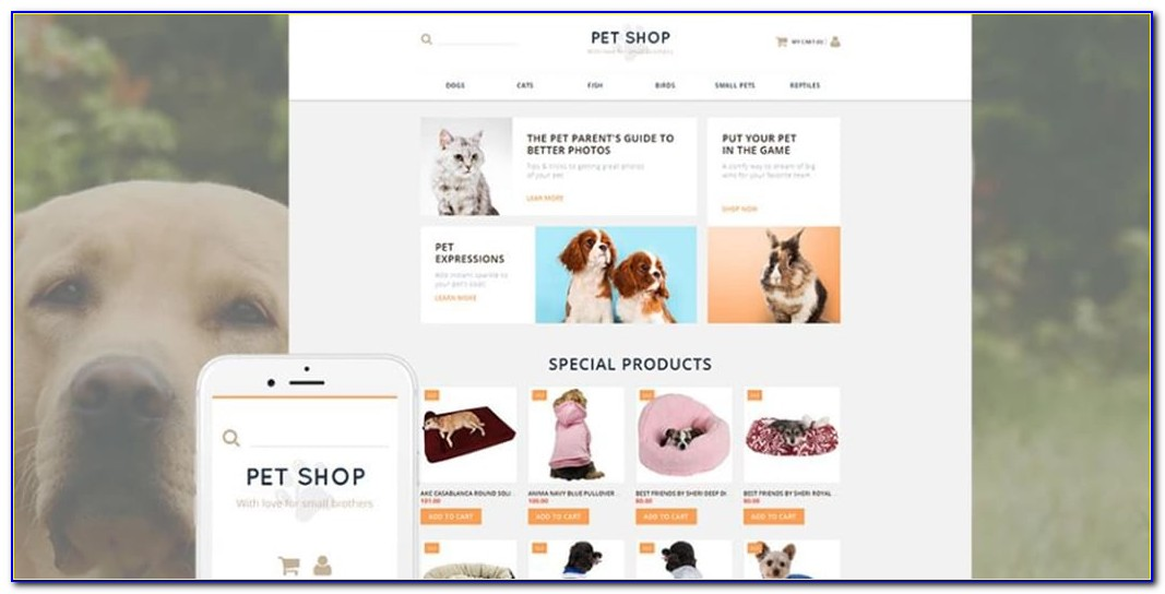 Dog Breeder Website Templates Free