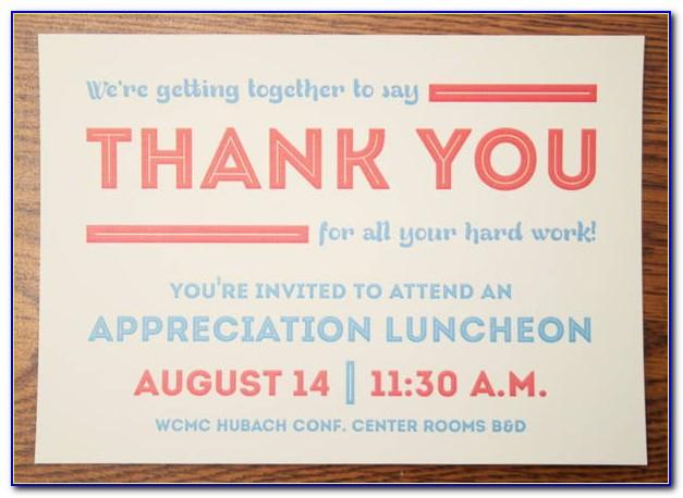 Employee Appreciation Lunch Invitation Template