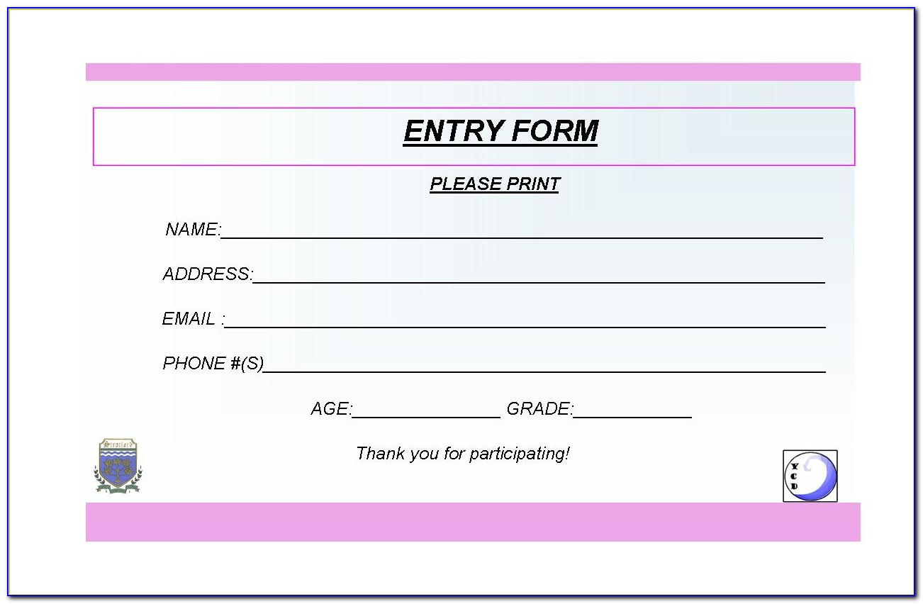 Entry Pass Ticket Template