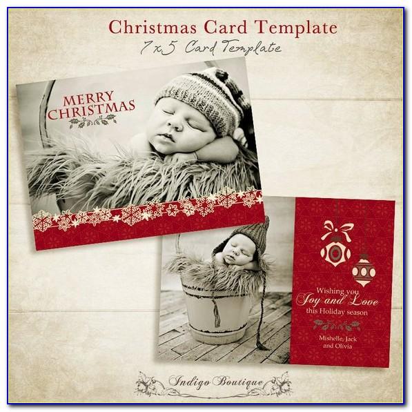 Etsy Christmas Photo Card Templates