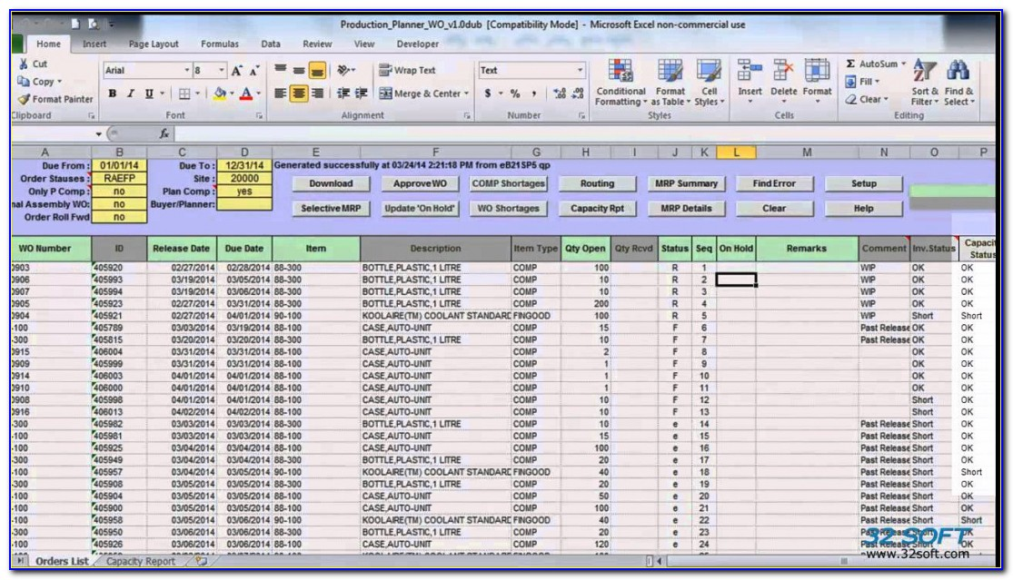 Production Scheduling In Excel Kairo.9terrains.co Production Planning Sheet Template