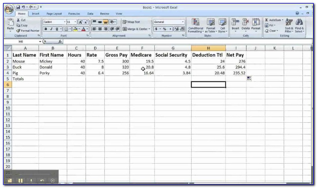 Excel Payroll Calculator Template Software 7.0 Download
