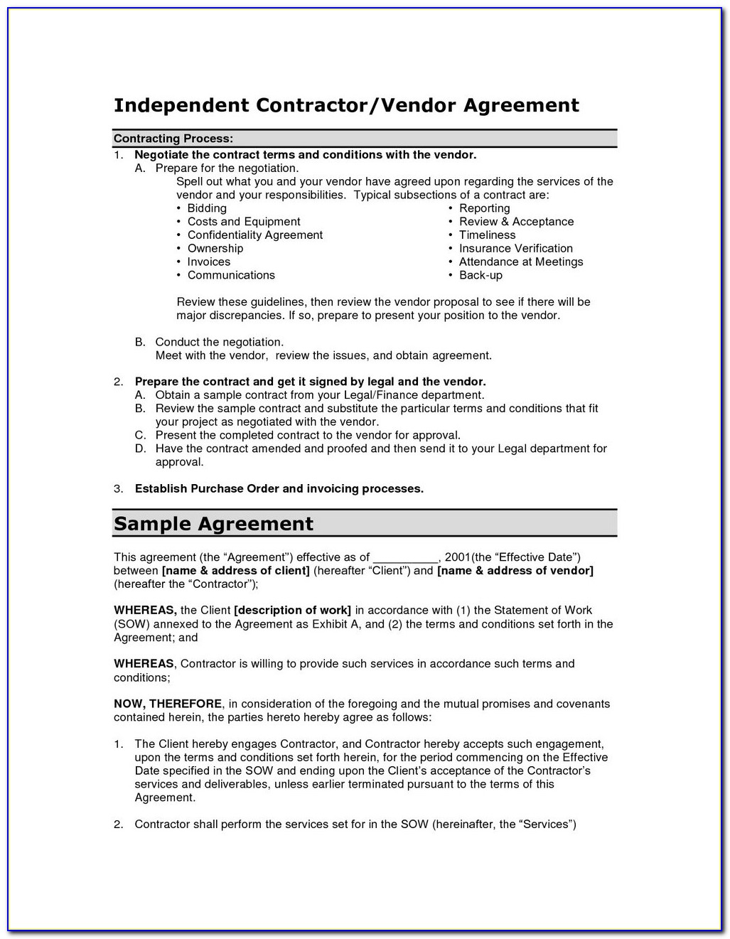 Exclusive Supply Agreement Template Free