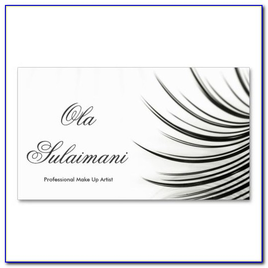 Eyelash Extension Business Card Template