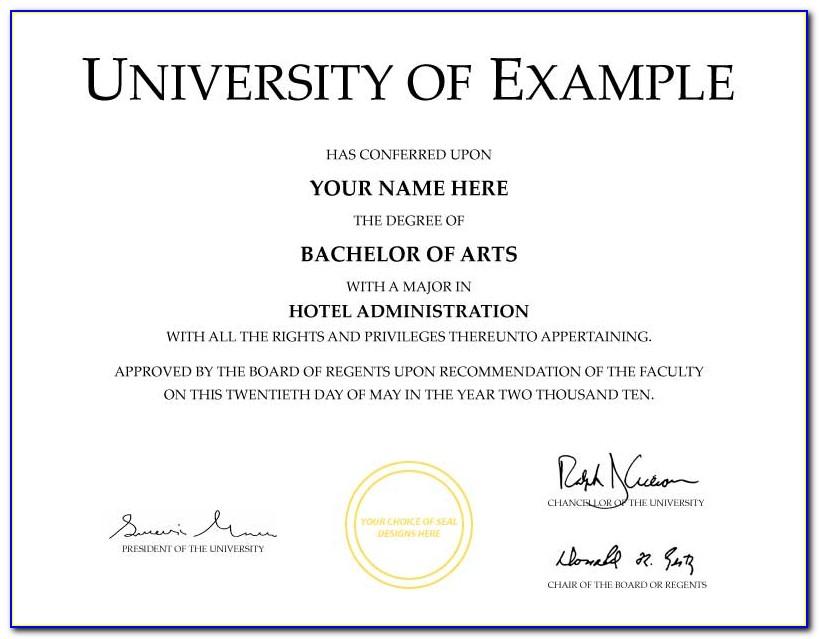 Fake Degree Certificate & Fake Diploma Templates