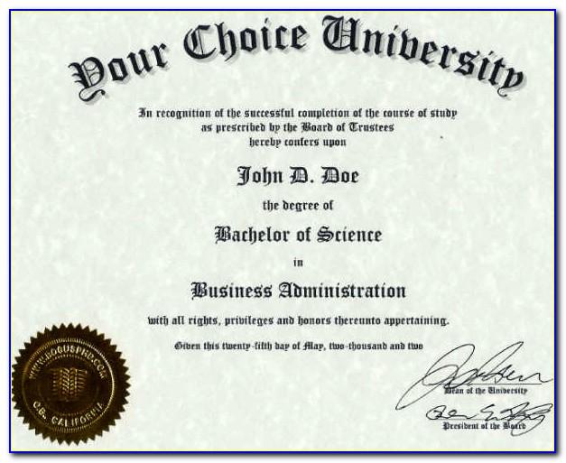Fake Degree Certificate Template Uk