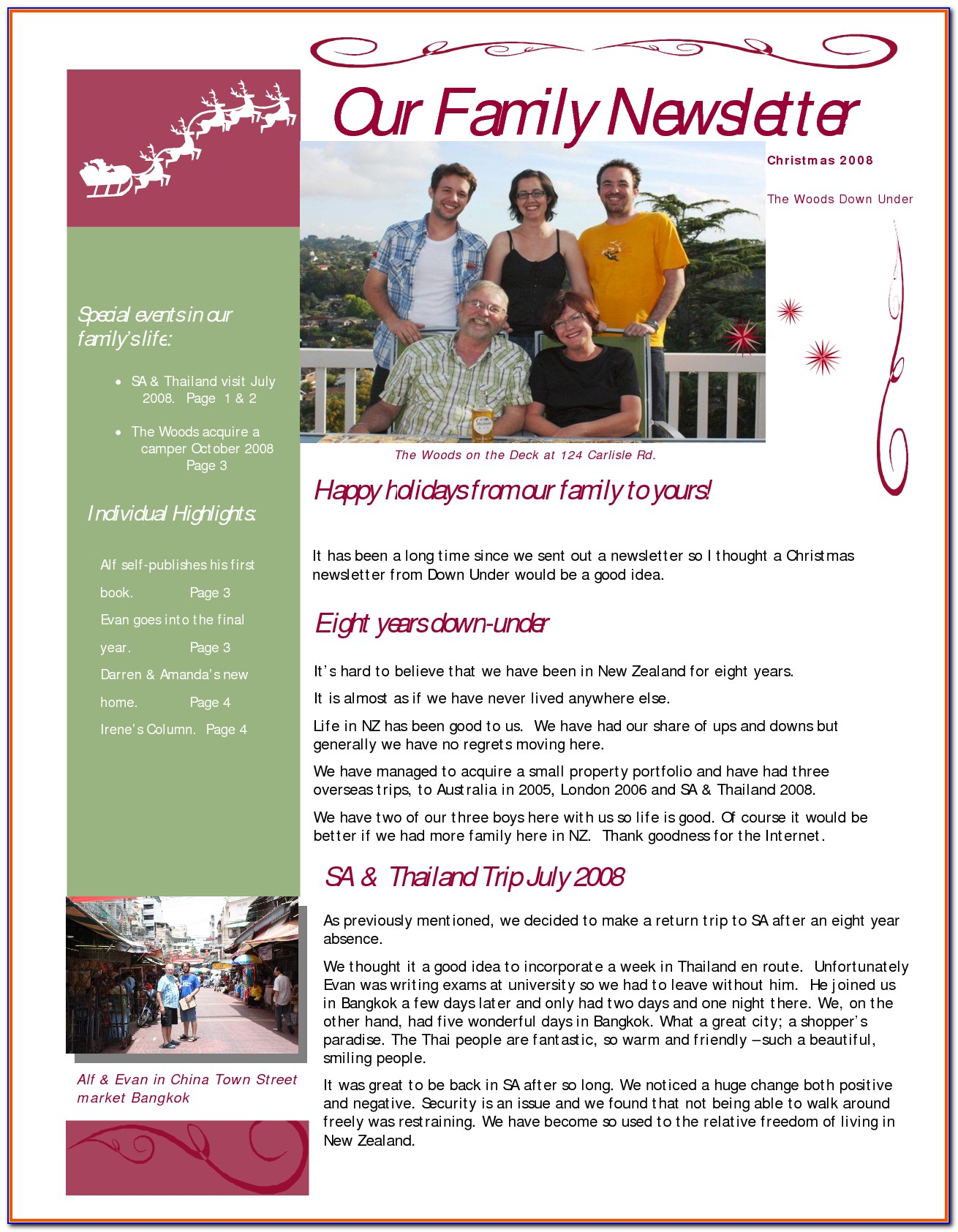 Family Newsletter Templates Free