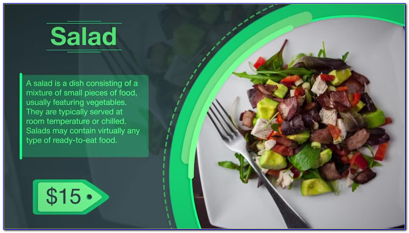 Food Menu Slideshow After Effects Template Free Download