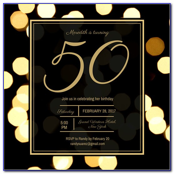 Free 50th Birthday Invitation Templates For Him