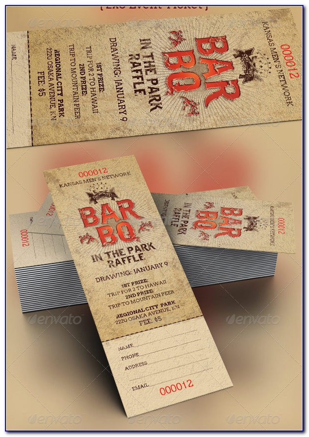 Free Bbq Tickets Template Word