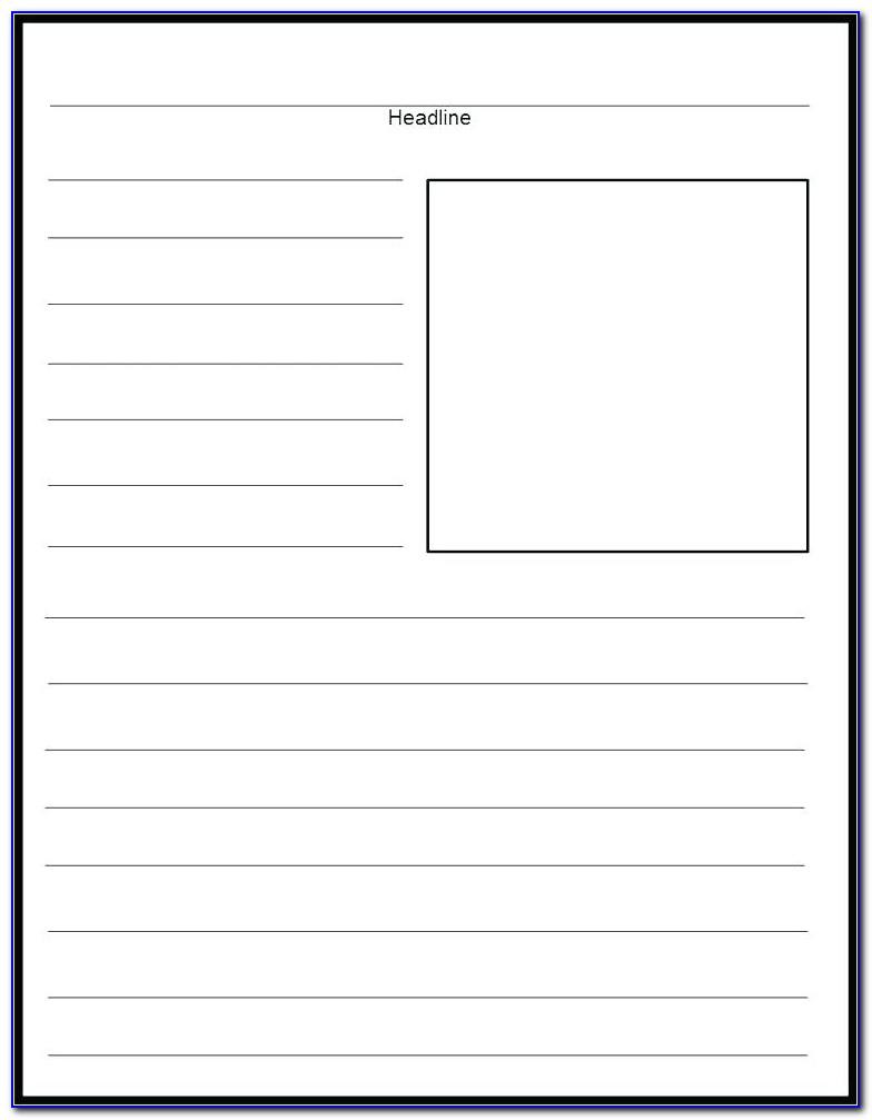 Free Blank Preschool Newsletter Templates