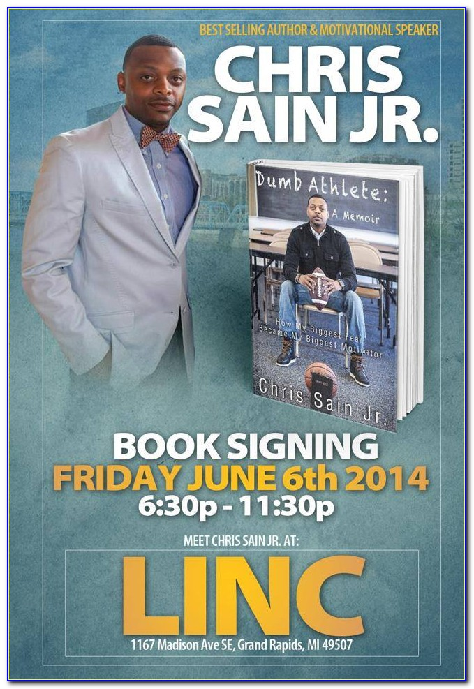 Free Book Signing Flyer Templates