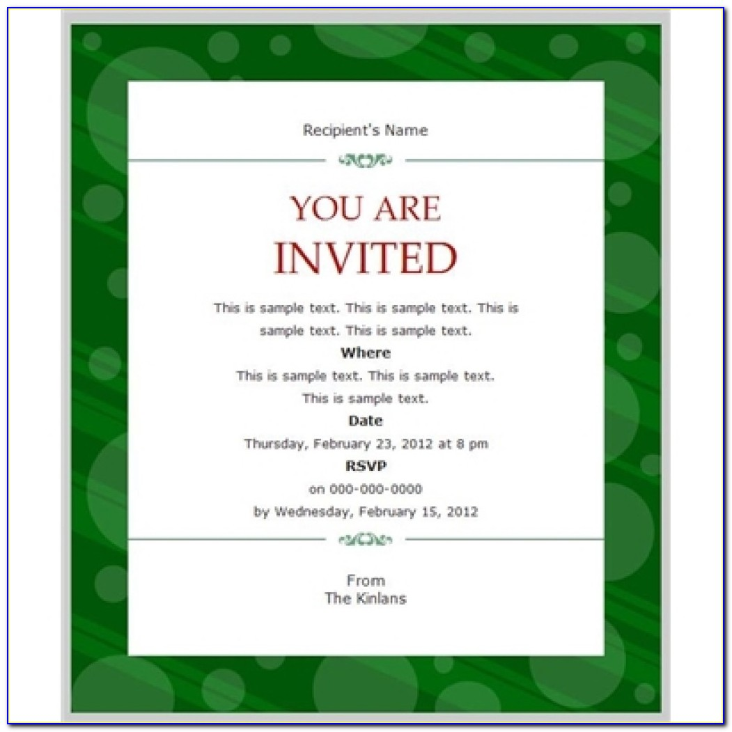 Free Business Party Invitation Templates