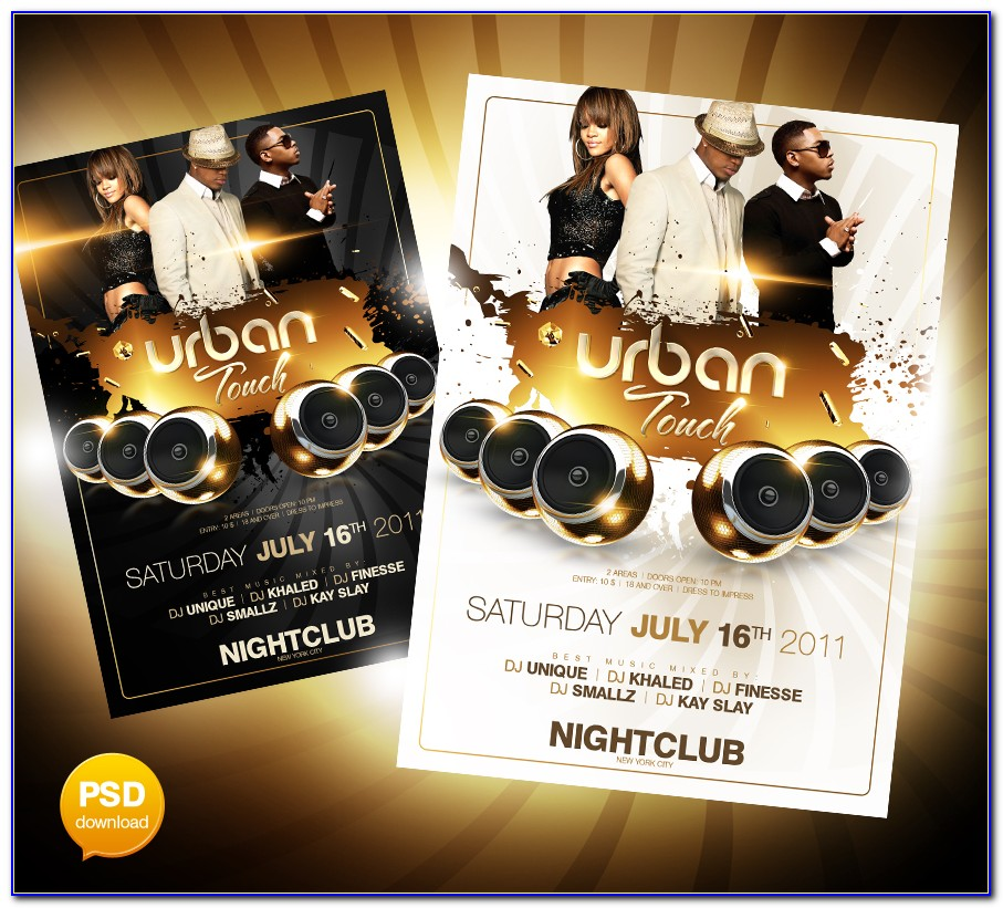 Free Club Flyers Templates Design