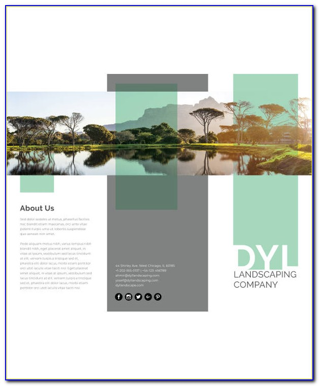 Free Download Brochure Landscape Template