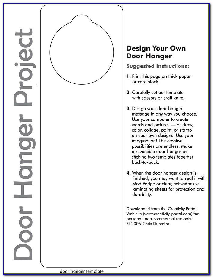 Free Downloadable Door Hanger Templates