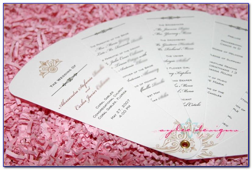 Free Downloadable Wedding Fan Program Templates Microsoft Word