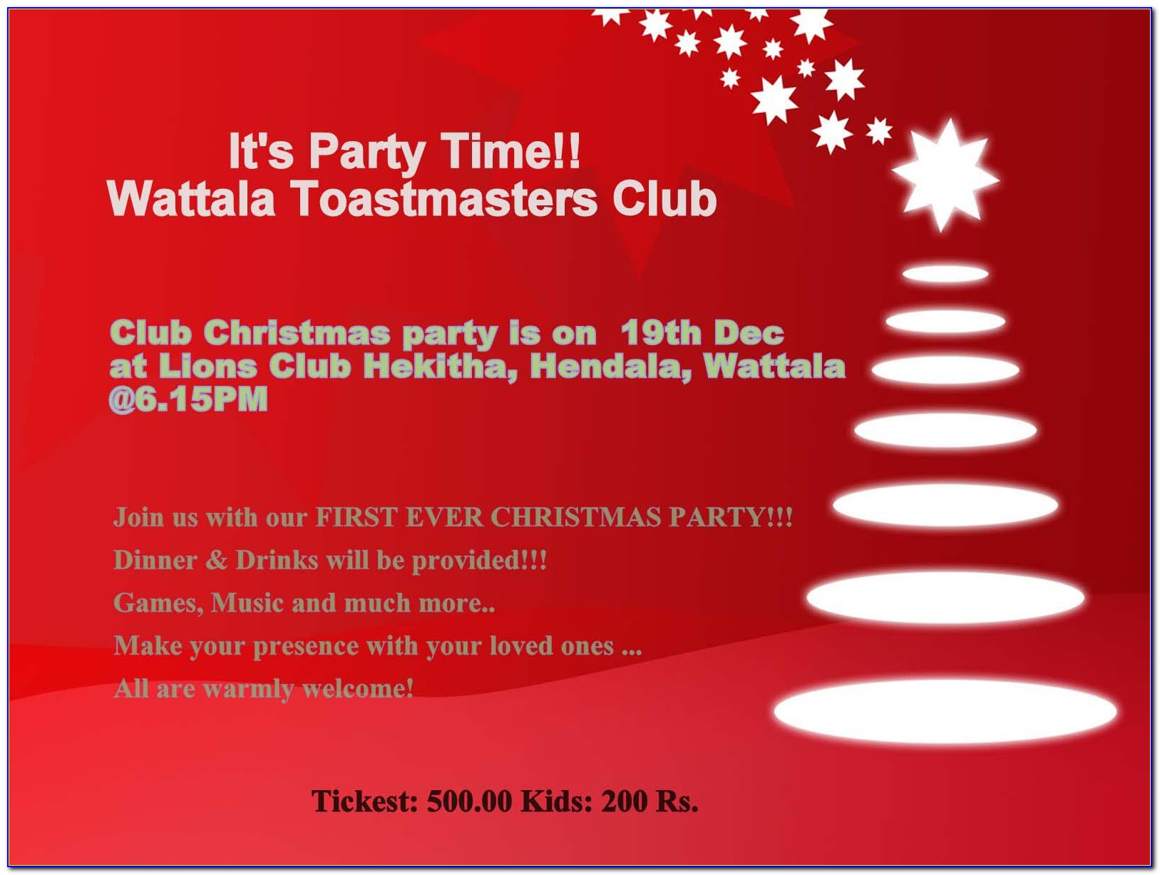 Free Email Christmas Party Invitation Templates