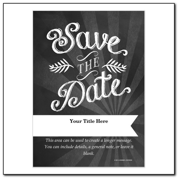 Free Graduation Save The Date Templates For Word
