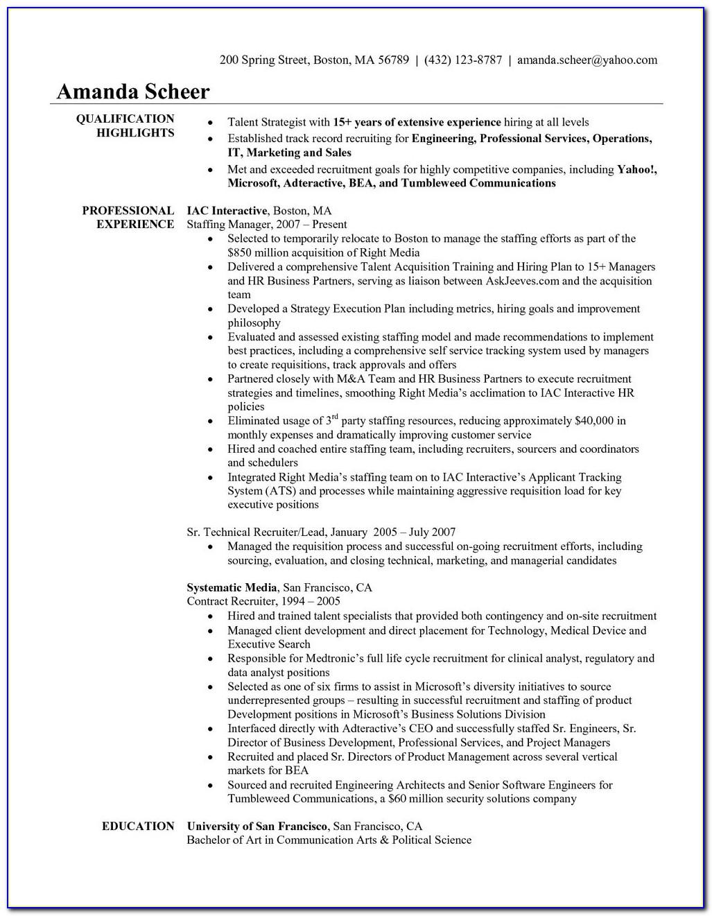 Free Nursing Resume Templates Download