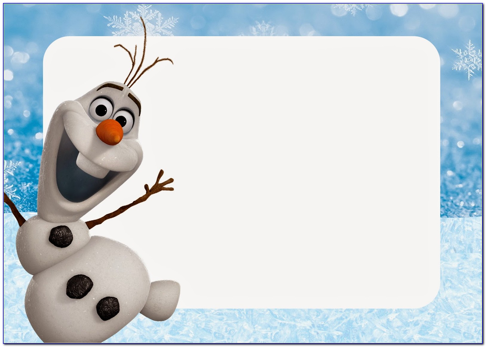 Free Olaf Invitation Template