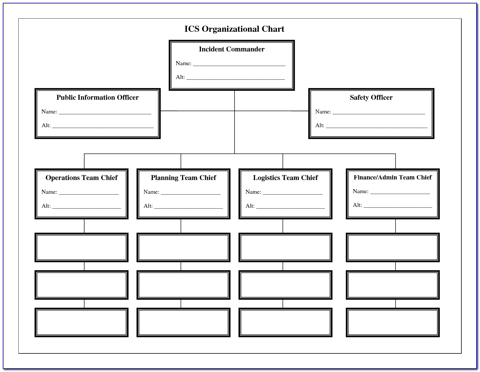 Free Organizational Chart Template Word Download