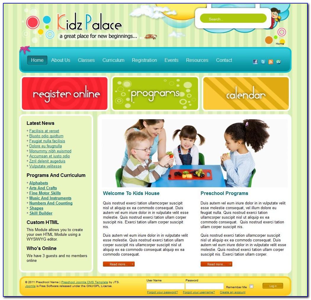 Free Preschool Website Templates Download