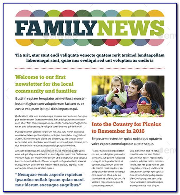 Free Printable Family Newsletter Templates