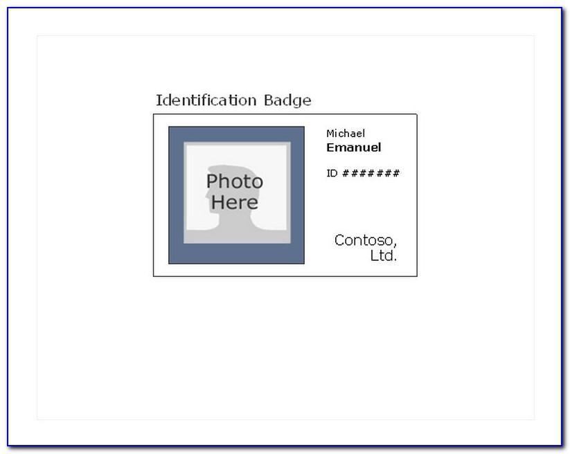 Free Printable Id Badge Template