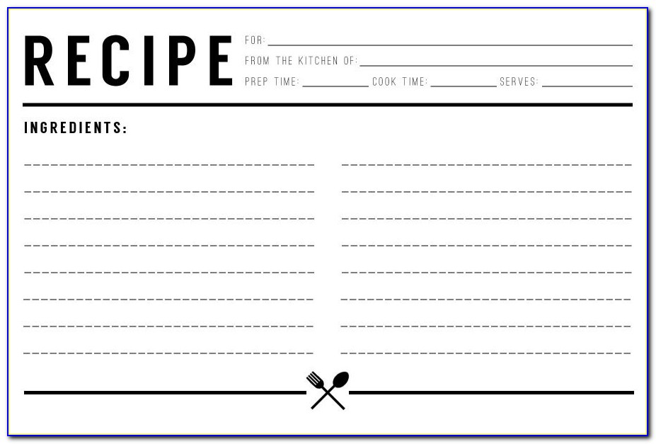 Free Recipe Cookbook Templates For Word