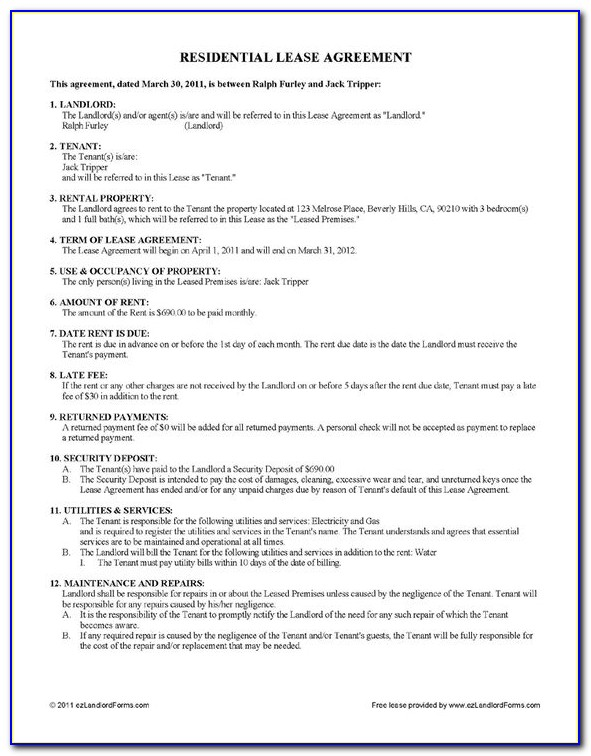 Free Residential Lease Agreement Template South Africa