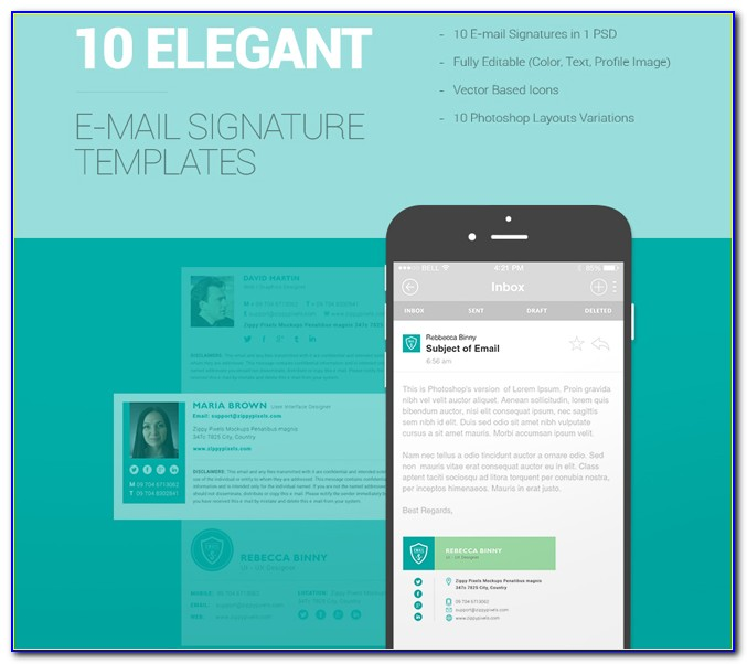 Free Responsive Html Email Signature Template