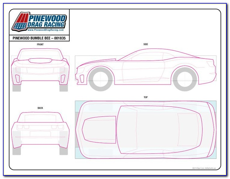 Free Template For Pinewood Derby Car Design
