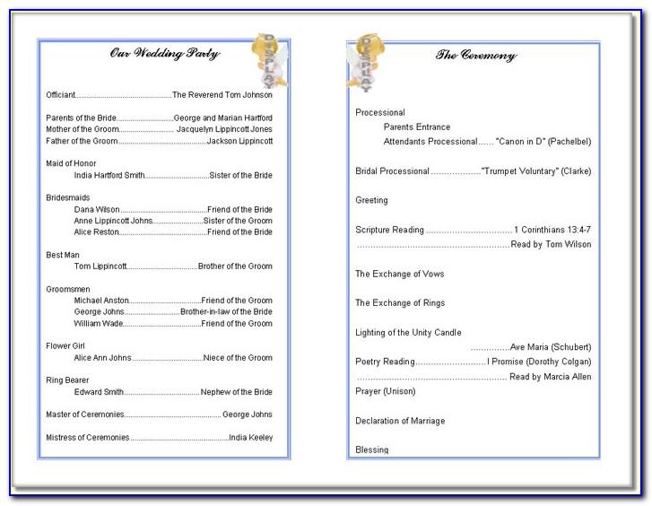Free Printable Church Program Template Websitein10