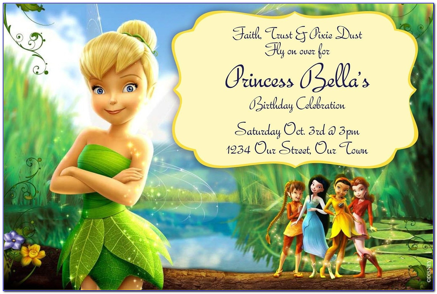 Free Tinkerbell Party Invitation Templates