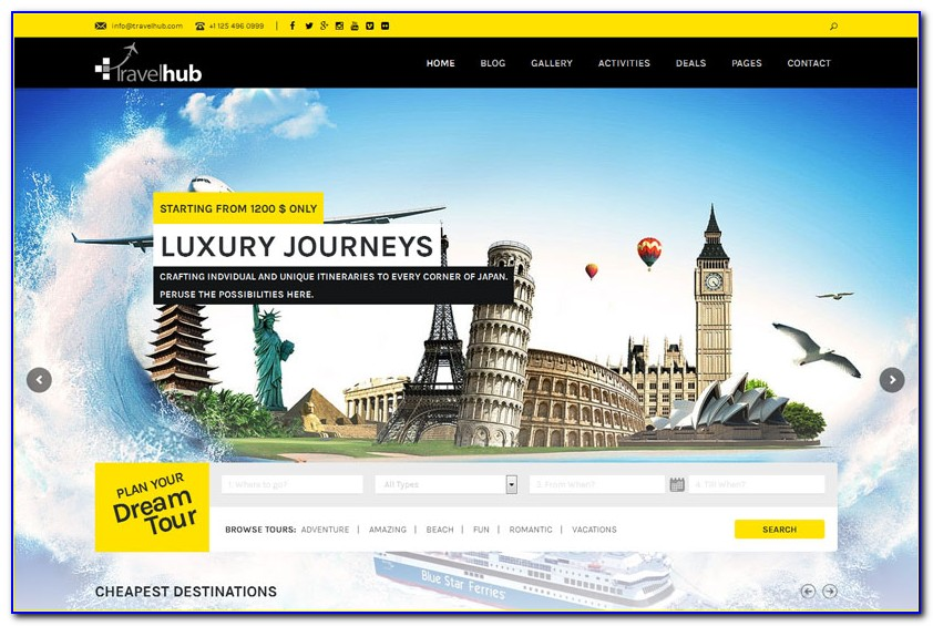 Free Tourism Website Templates Download Html And Css