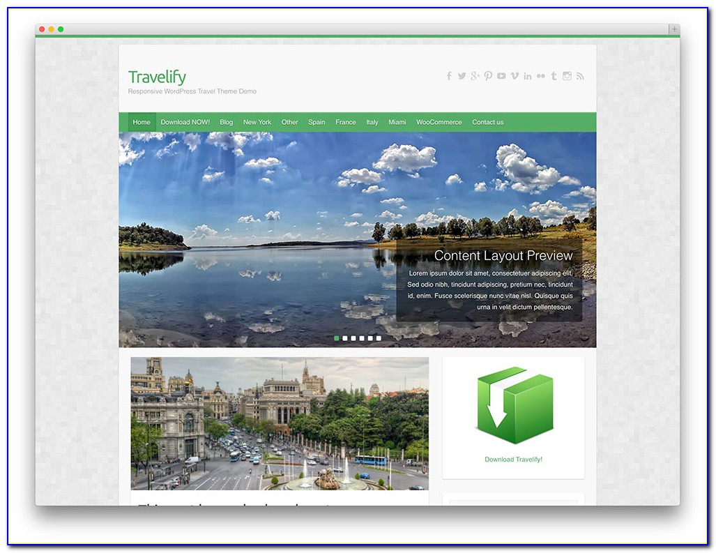 Free Tourism Website Templates Download