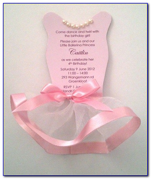 Free Tutu Invitation Template