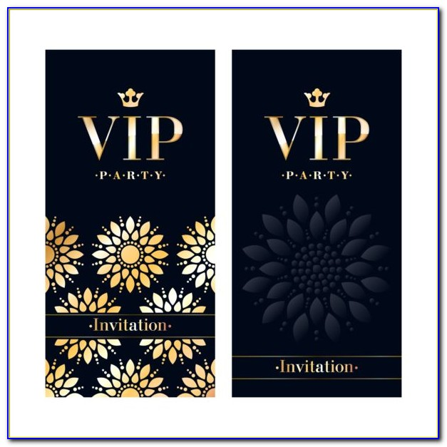 Free Vip Invitation Template Download