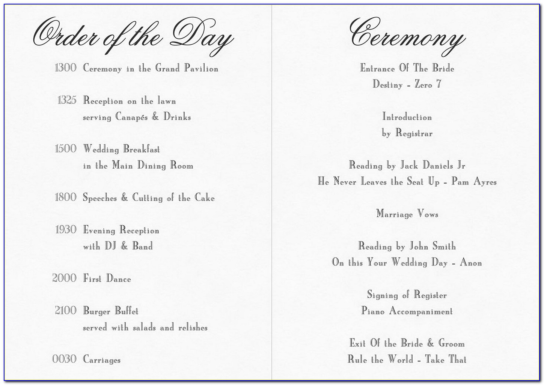 Free Wedding Anniversary Program Templates