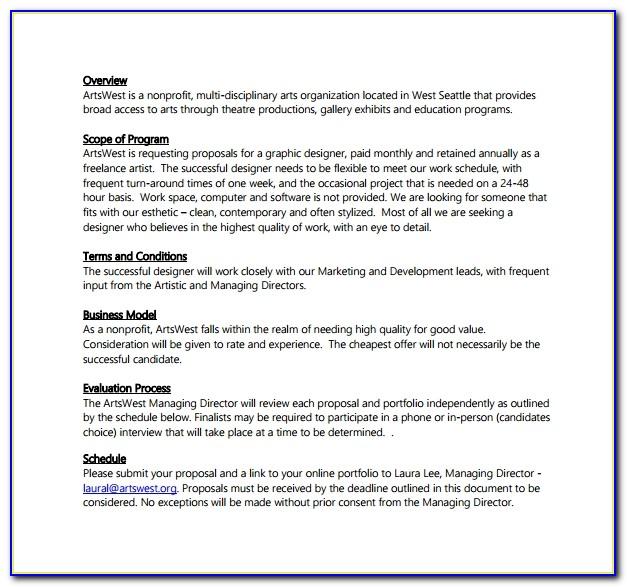 Freelance Design Proposal Template Free