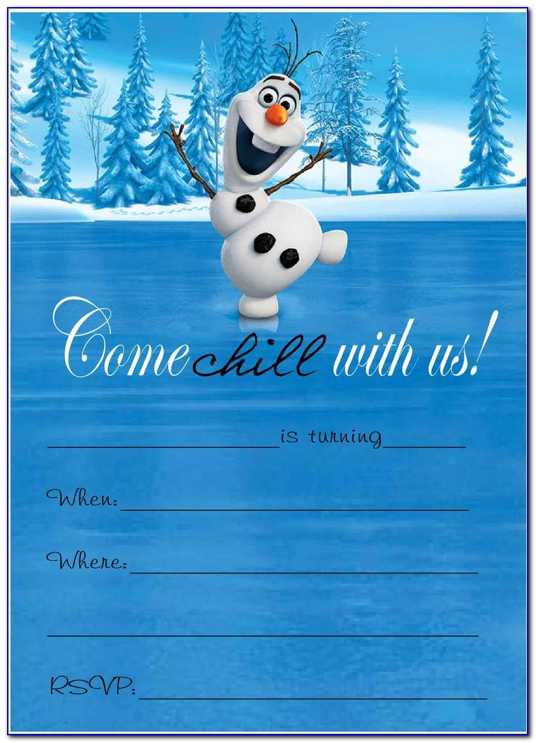 Frozen Invitation Templates Free Download